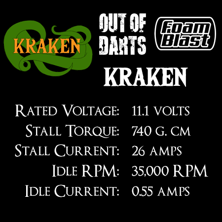 Out Of Darts Kraken motor (130-3S) Specs