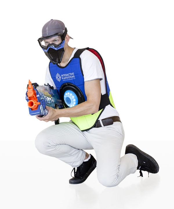 Interactive Play Systems Target vests blue