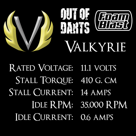 Out Of Darts Valkyrie motor (130-3S) specs