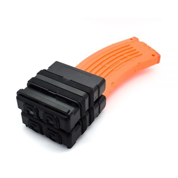 7.62 Fastmag Double Stacks Magazine Holder for Nerf - Black