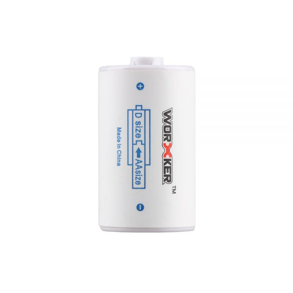 Worker AA to D battery adapter