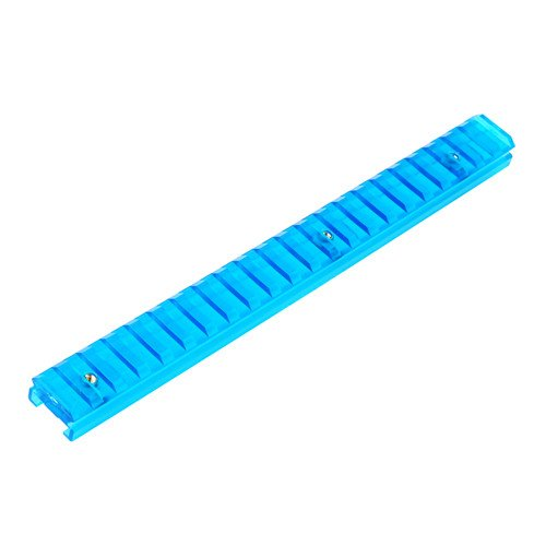 Worker Picatinny Rail for NERF Rail Conversion - Transparant Blue 22 cm