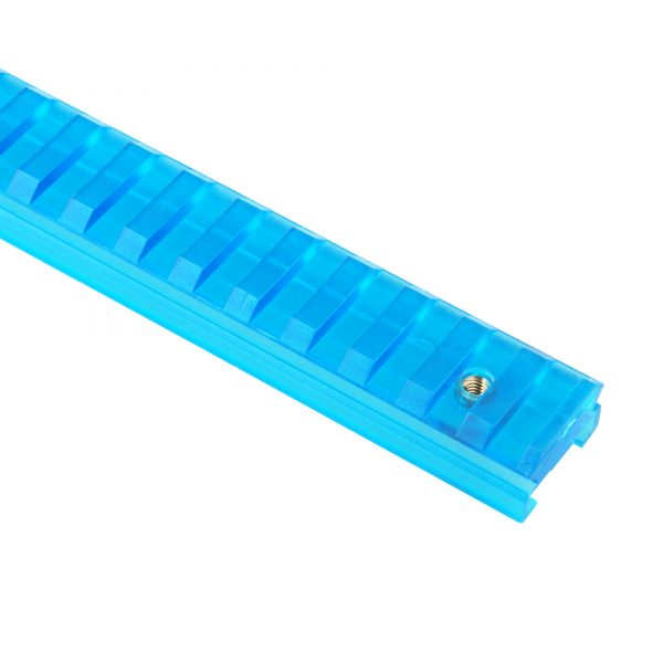 Worker Picatinny Rail for NERF Rail Conversion - Transparant Blue 27.9 cm