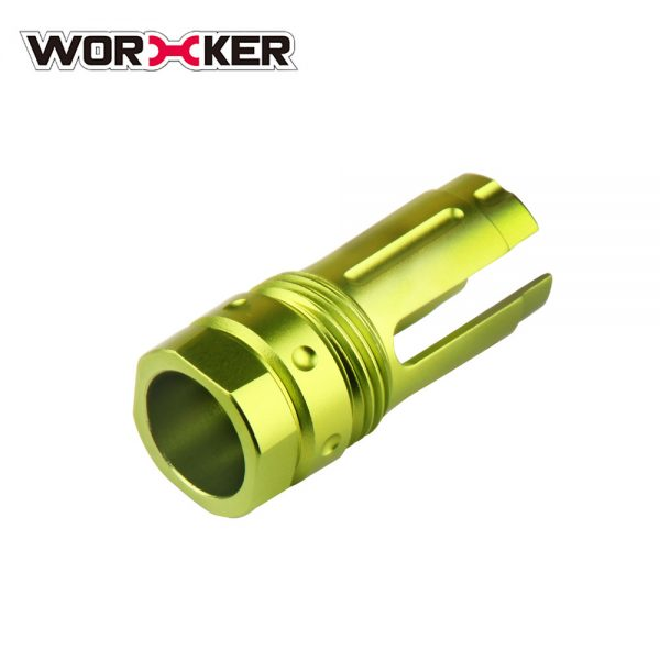 Worker 3-Prong Flash Hider Muzzle (with screw thread) - Apple Green