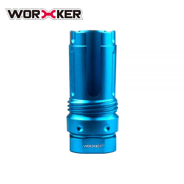 Worker 3-Prong Flash Hider Muzzle (with screw thread) - Blue