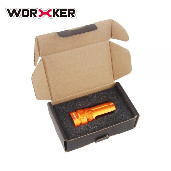 Worker 3-Prong Flash Hider Muzzle (with screw thread) - Orange