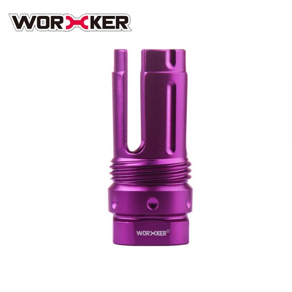 Worker 3-Prong Flash Hider Muzzle (with screw thread) - Purple