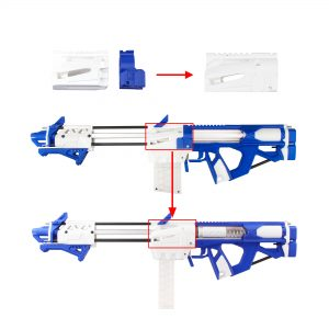 Worker Caliburn 3D Printed Nerf Blaster Kit Changes 1