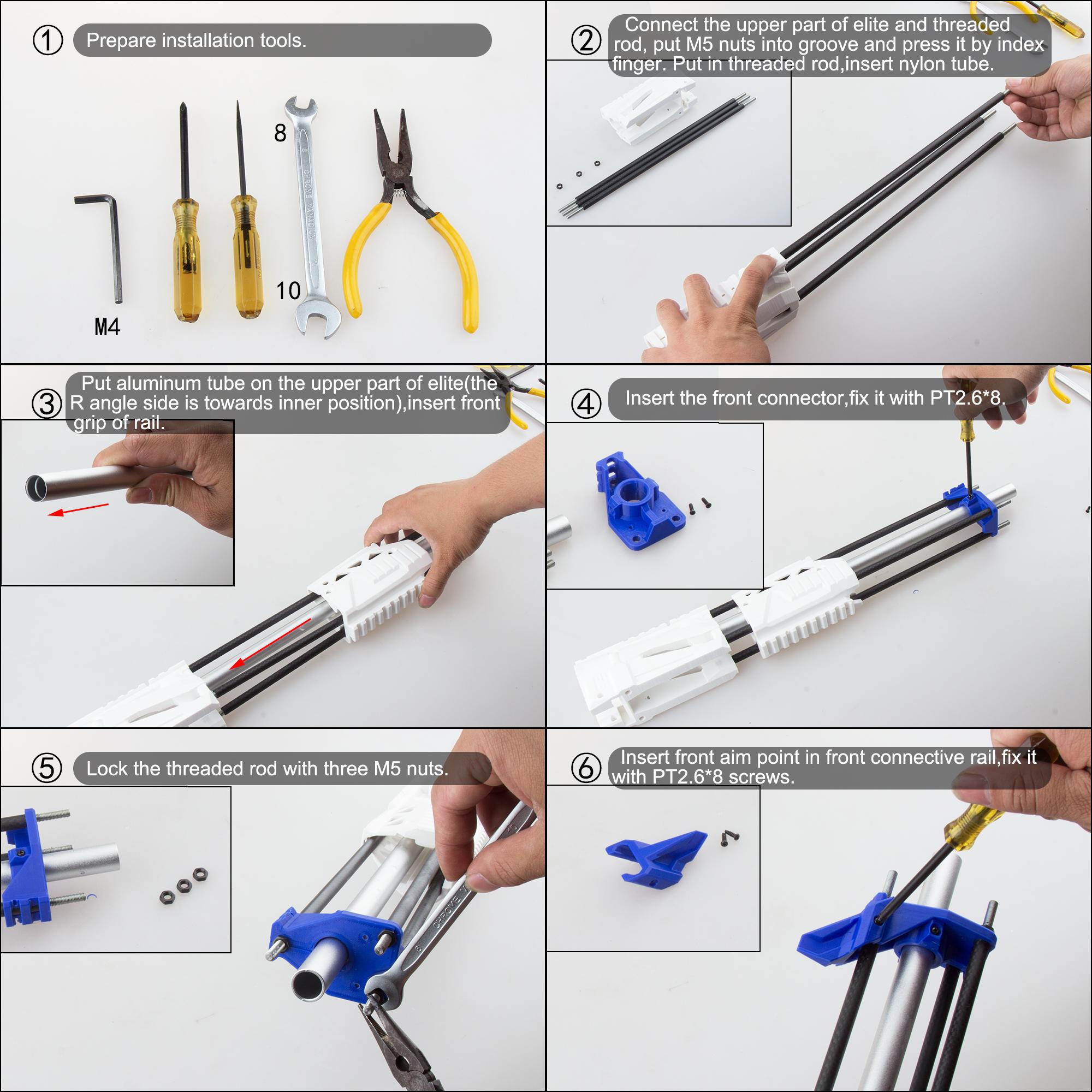 Worker Caliburn 3D Printed Nerf Blaster Kit v1.1 assembly 1