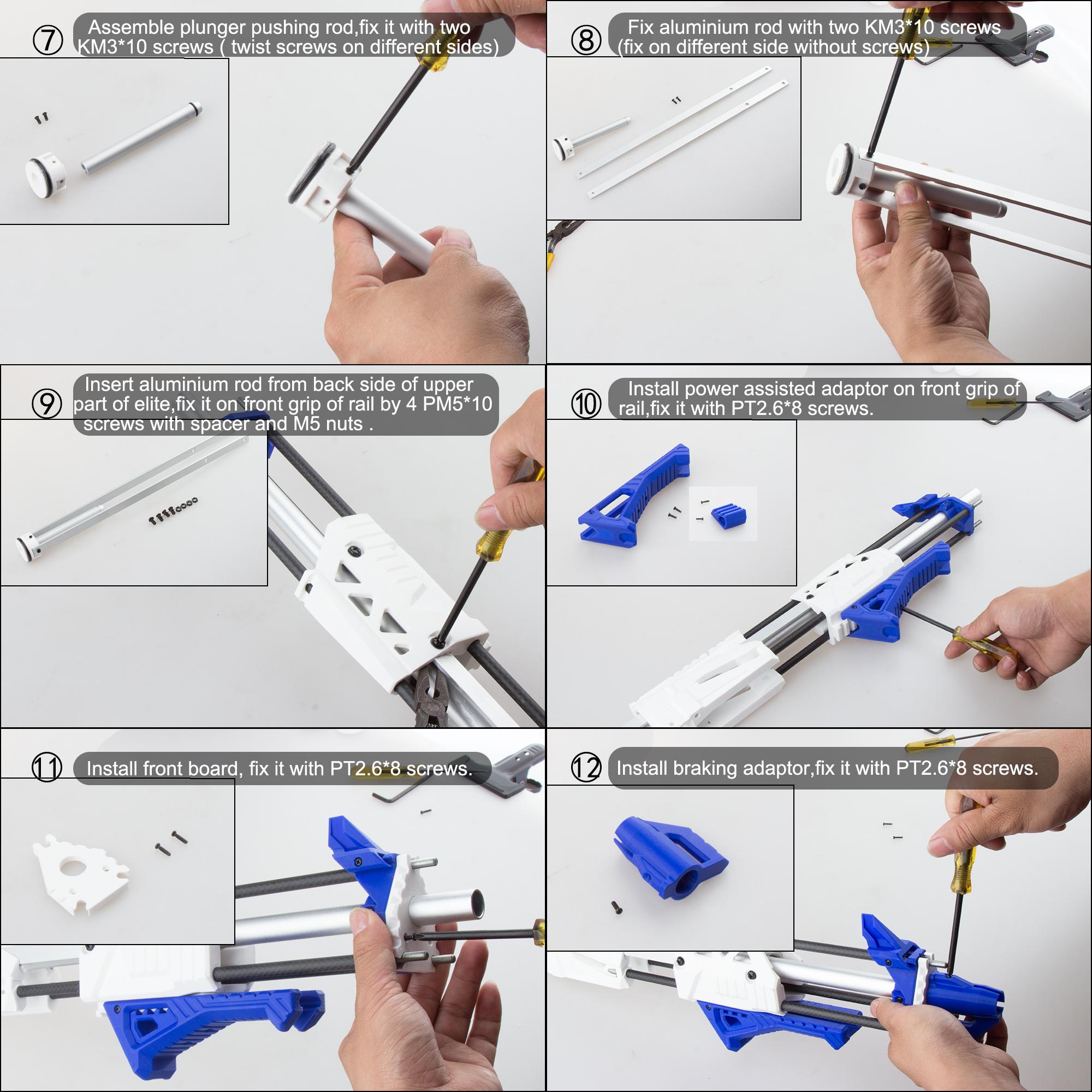Worker Caliburn 3D Printed Nerf Blaster Kit v1.1 assembly 2