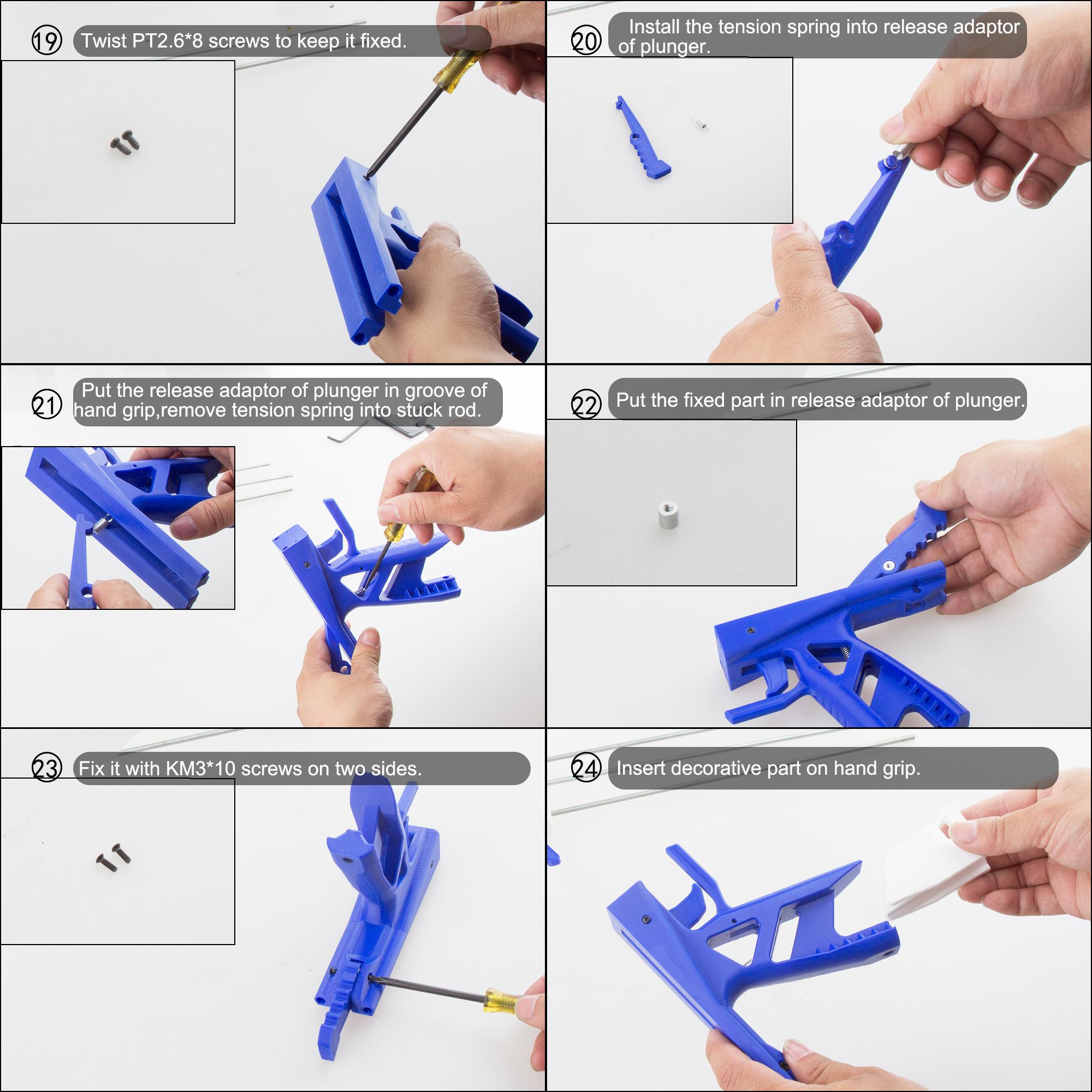 Worker Caliburn 3D Printed Nerf Blaster Kit v1.1 assembly 4
