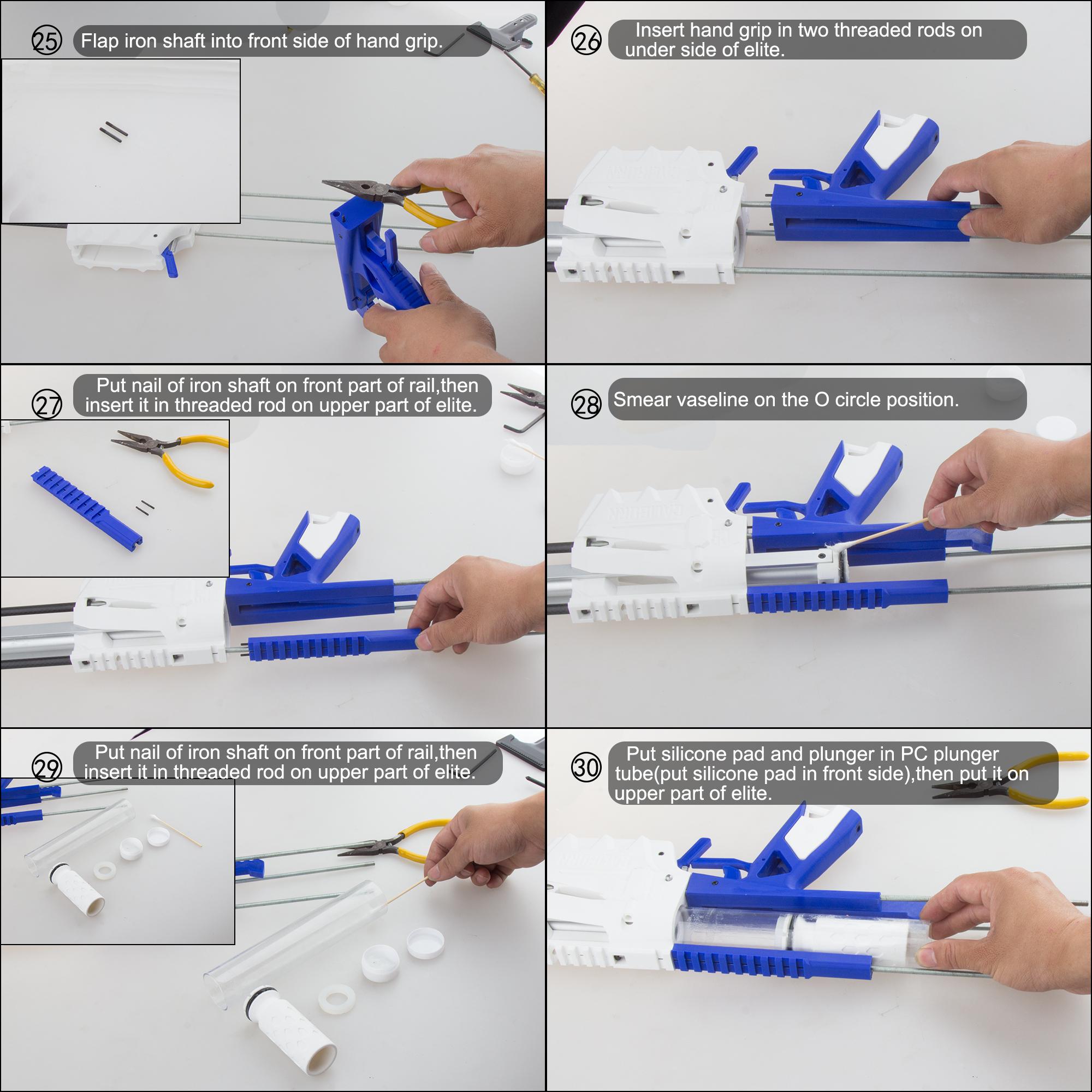 Worker Caliburn 3D Printed Nerf Blaster Kit v1.1 assembly 5