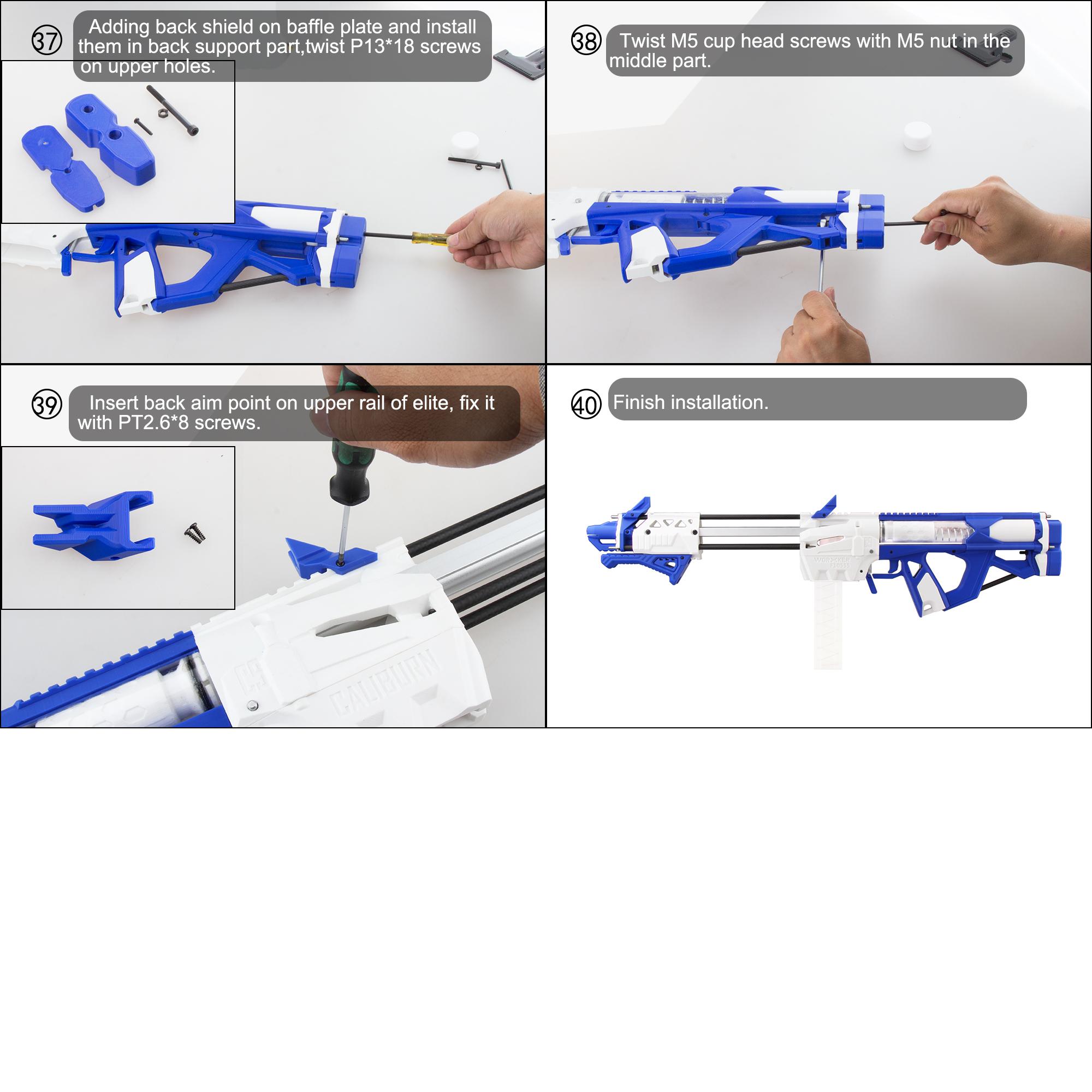 Worker Caliburn 3D Printed Nerf Blaster Kit v1.1 assembly 7
