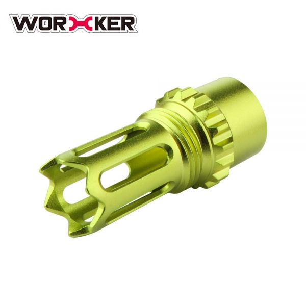 Worker Ghost Flash Hider Muzzle (with screw thread) - Apple Green