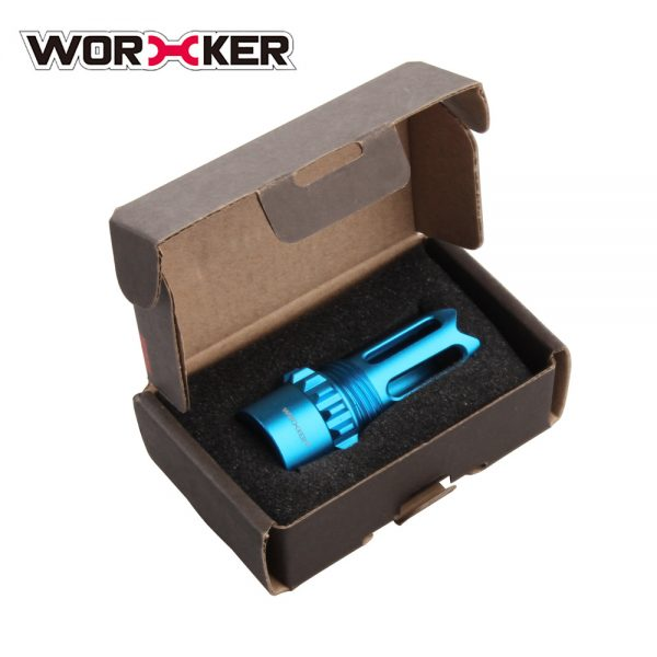 Worker Ghost Flash Hider Muzzle (with screw thread) - Blue