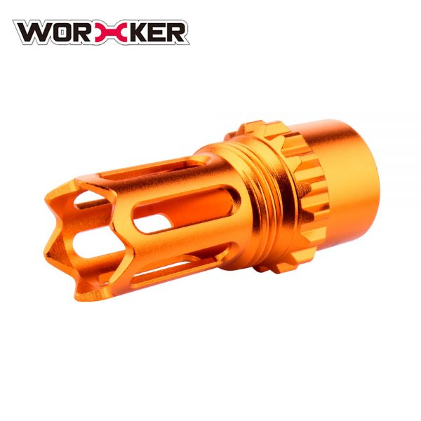 Worker Knight Flash Hider Muzzle (with screw thread) - Orange