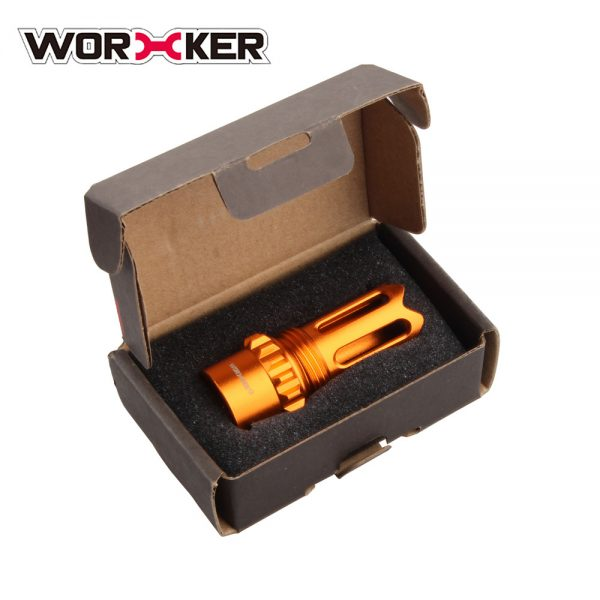 Worker Ghost Flash Hider Muzzle (with screw thread) - Orange