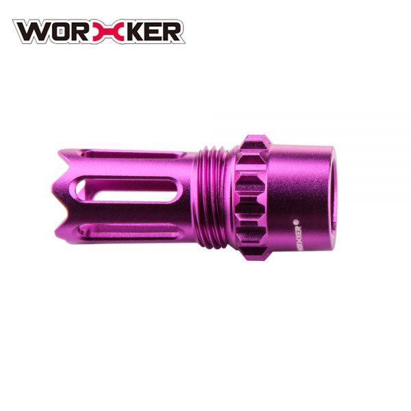 Worker Ghost Flash Hider Muzzle (with screw thread) - Purple