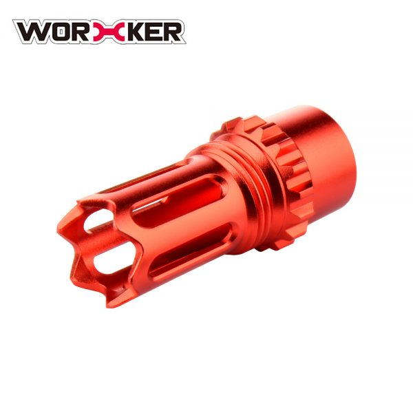 Worker Ghost Flash Hider Muzzle (with screw thread) - Red