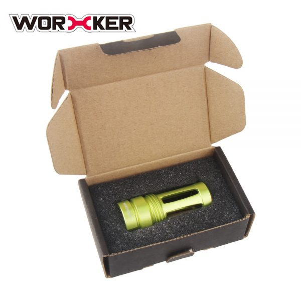 Worker Knight Flash Hider Muzzle (with screw thread) - Apple Green