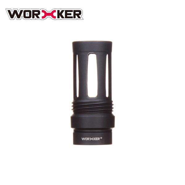 Worker Knight Flash Hider Muzzle (with screw thread) - Black