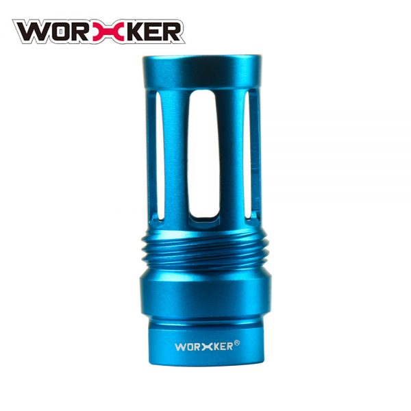 Worker Knight Flash Hider Muzzle (with screw thread) - Blue