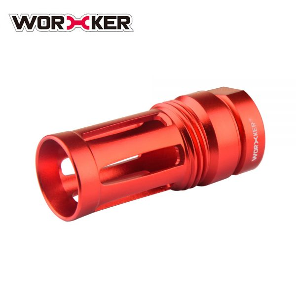 Worker Knight Flash Hider Muzzle (with screw thread) - Red