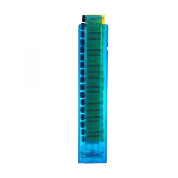 Worker Talon Short Dart Magazine - Transparent Blue