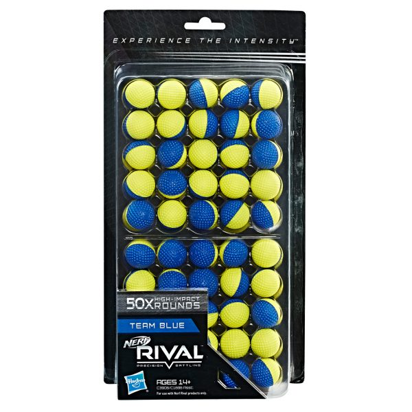 NERF Rival Refill - 50 Rounds Blue-Yellow