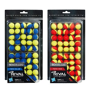 NERF Rival Refill - 50 Rounds Red-Blue-Yellow