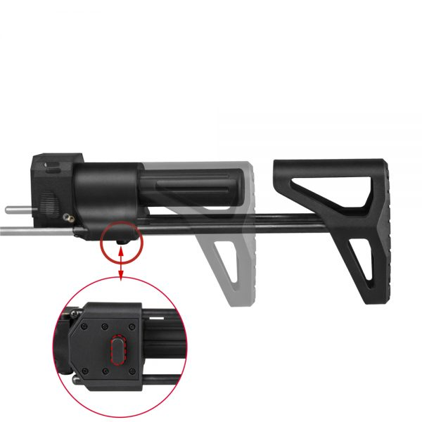 Worker PDW Retractable Stock - Black