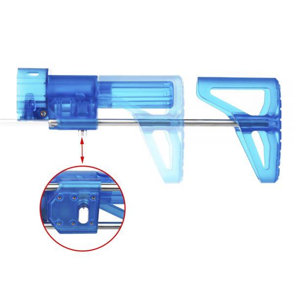Worker PDW Retractable Stock - Transparent Blue