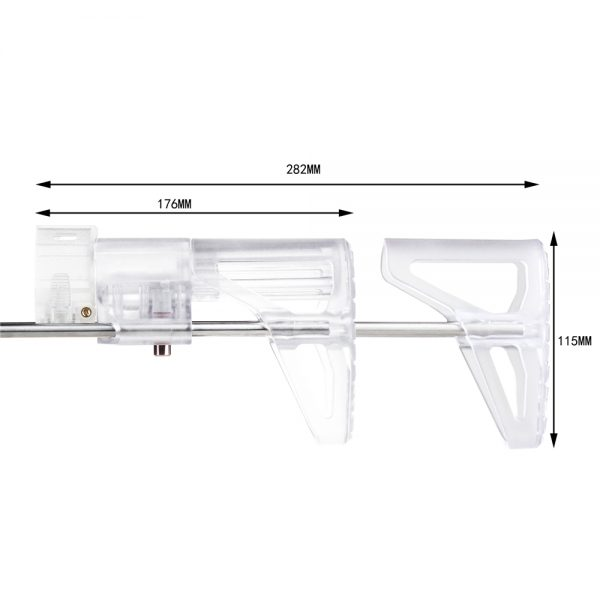 Worker PDW Retractable Stock - Transparent Clear