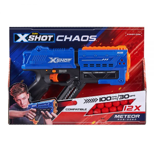 Zuru X-Shot Chaos Meteor Dart Ball Blaster Packaging