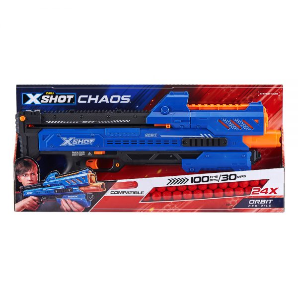 Zuru X-Shot Chaos Orbit Dart Ball Blaster Packaging