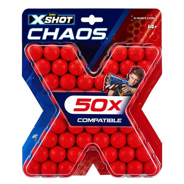 Zuru X-Shot Dart Ball Blaster Round Chaos 50 Refill