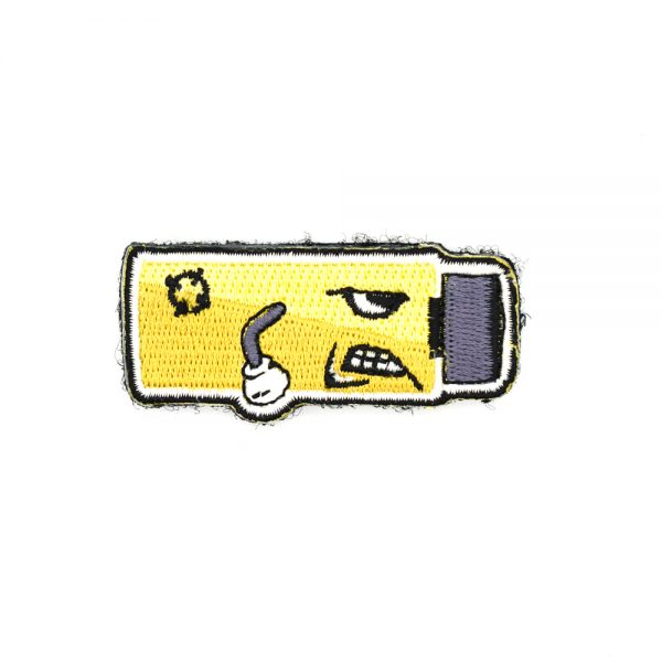 Angry Worker Short Dart Embroidered Patch Yellow