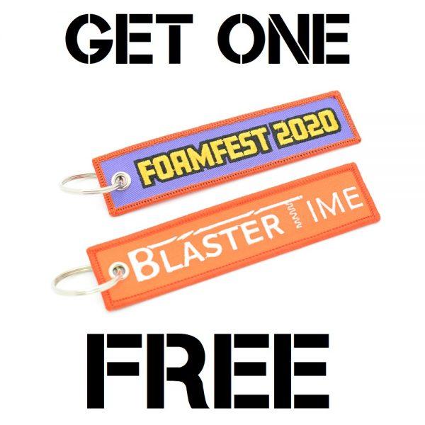 Blaster-Time X Foam Fest 2020 - Tag Keychain Free