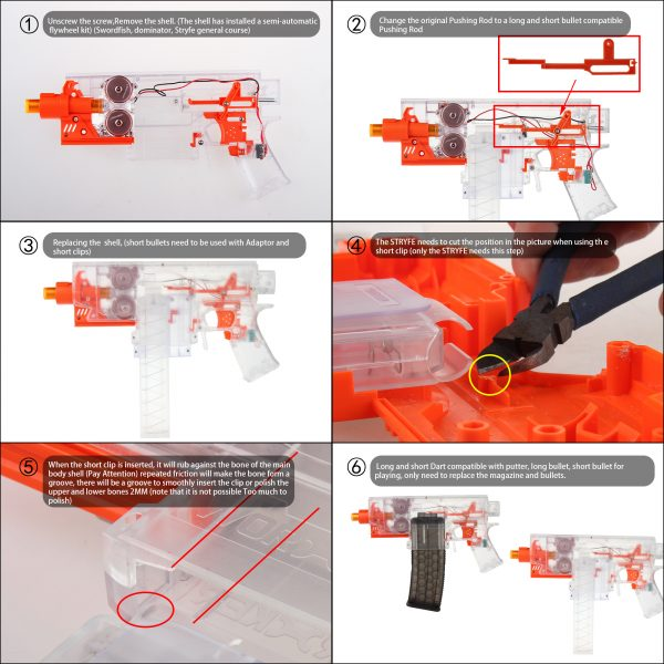 Worker Talon Magazine Adapter for Nerf Stryfe Instructions