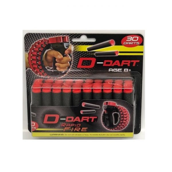 D-Dart Suction Cup Dart Refill - 30 Darts temporary