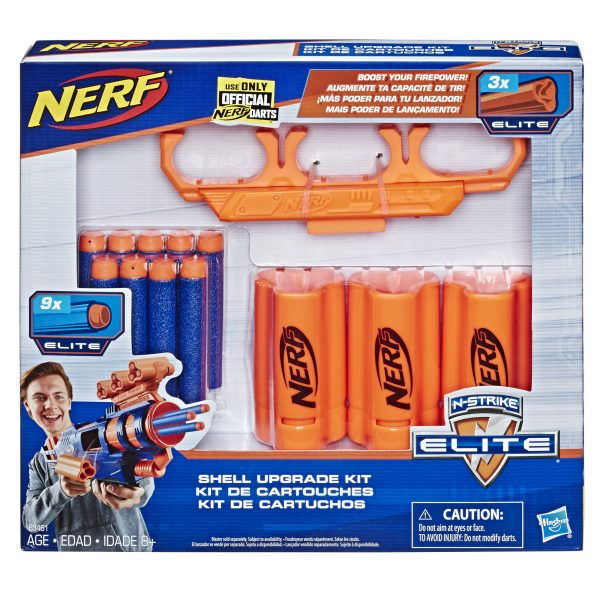 NERF Shell Upgrade Kit - 3 Shells, 9 Nerf Darts, Shell Holder