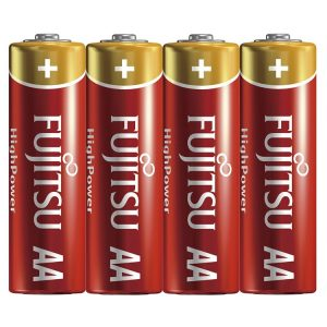 Fujitsu High Power Alkaline AA Battery - 4 pcs