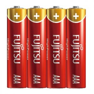 Fujitsu High Power Alkaline AAA Battery - 4 pcs