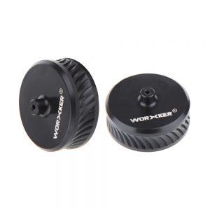 Worker Black Accurate Flywheel POM (pair)