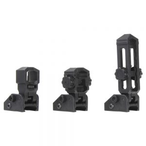 Worker Flip Up Iron Sight Black Picatinny