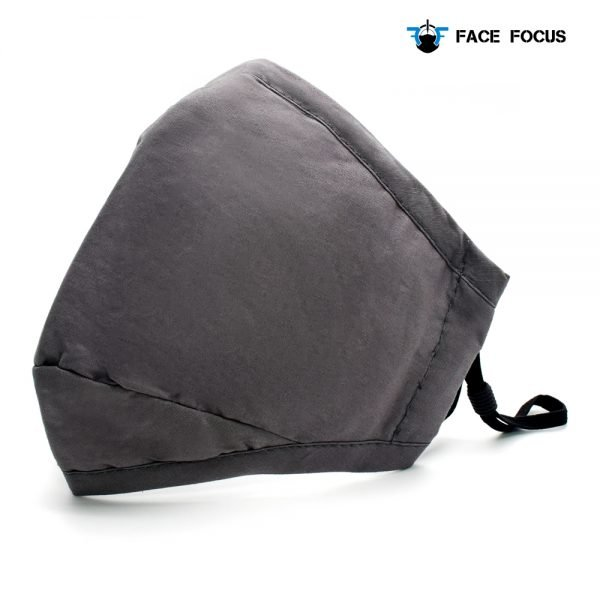 Face Focus Cotton Washable Face Mask with Filter and Nose brige - Grey