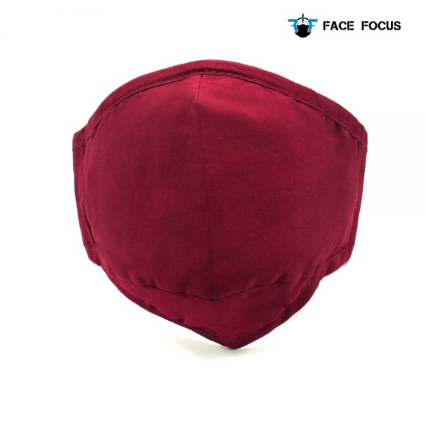 Face Focus Cotton Washable Face Mask with Filter and Nose brige - Red