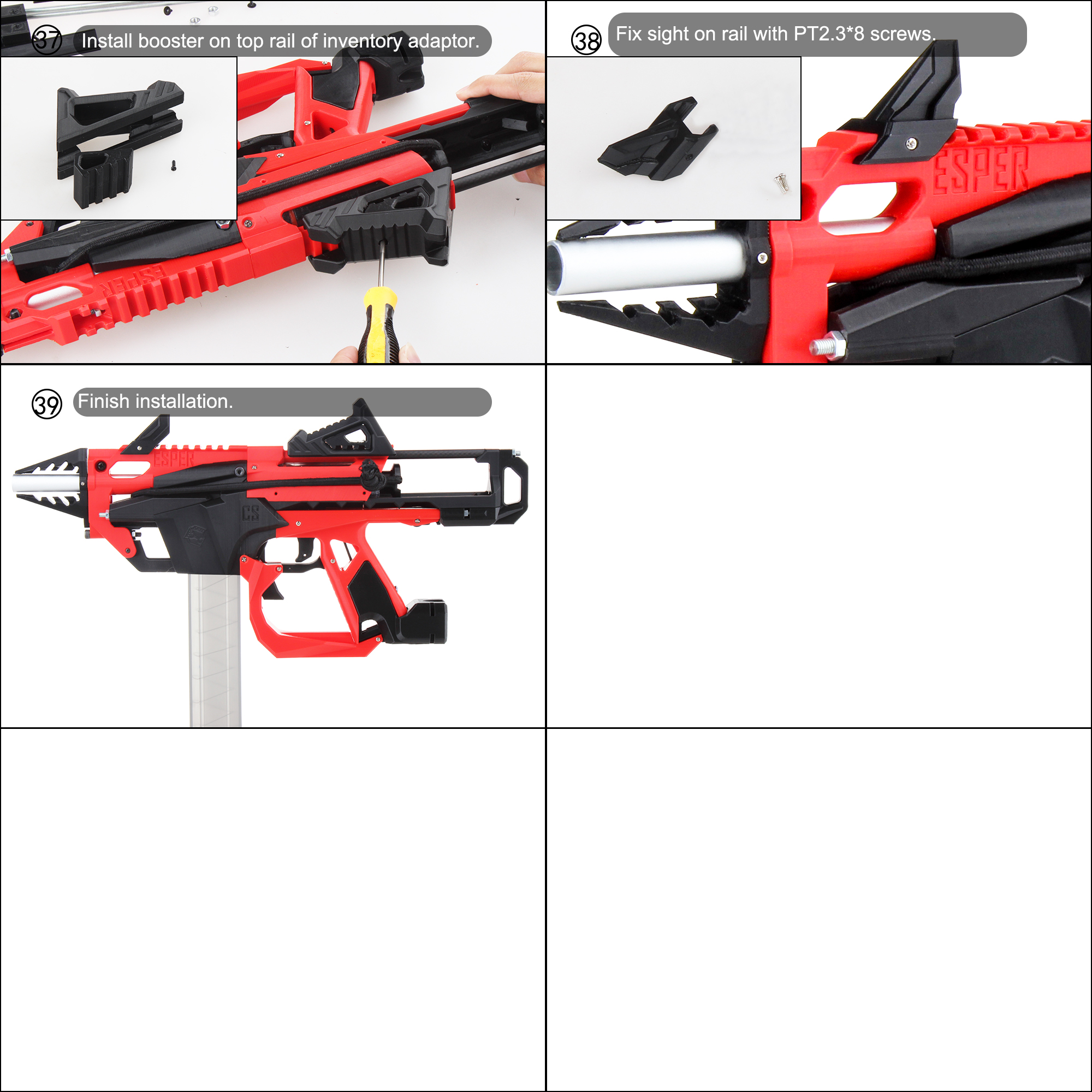 Worker F10555 Esper 3D printed Blaster Model A Assembly Instructions