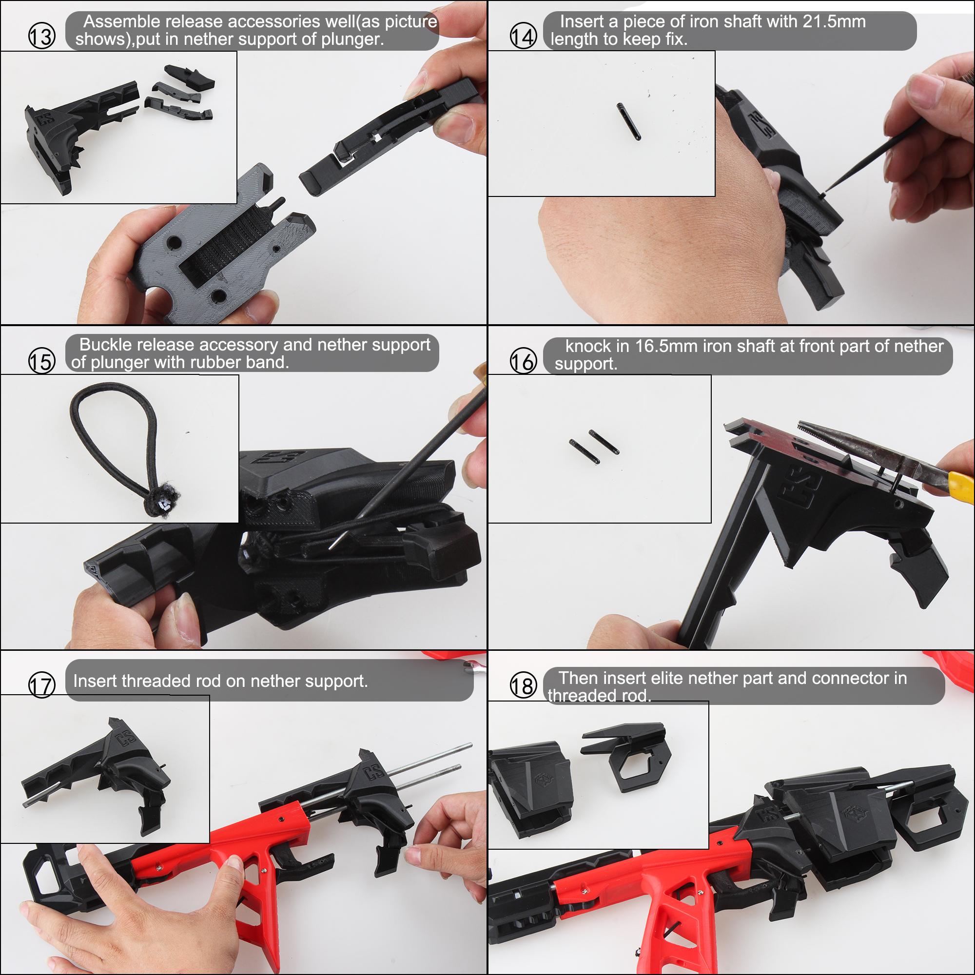 Worker F10555 Esper 3D printed Blaster Model B Assembly Instructions