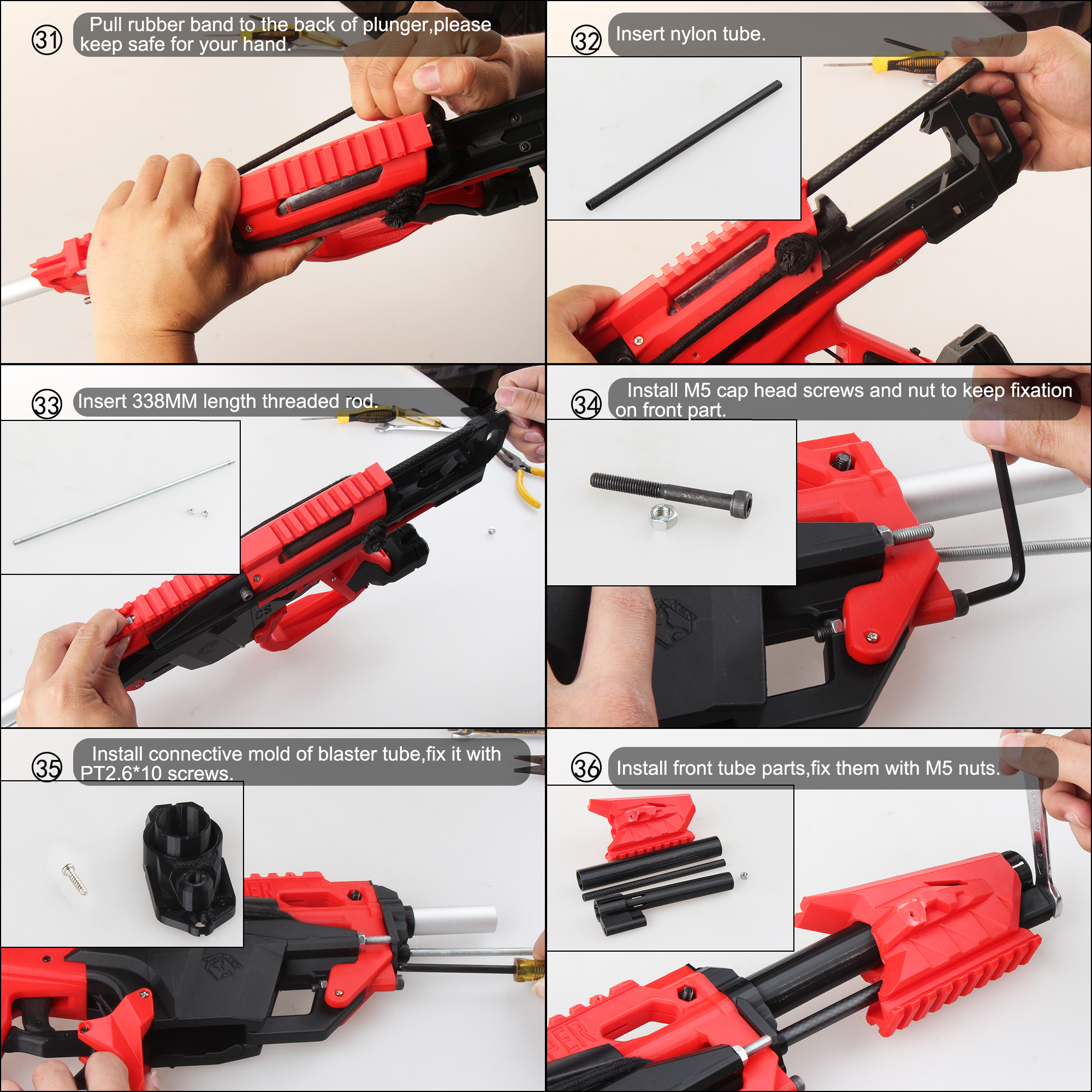Worker F10555 Esper 3D printed Blaster Model B Assembly Instructions